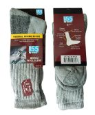 mb55 4 Pairs Mens Merino Wool Cotton Ploy Blend Thermal Hiking Socks Shoe Size 8-12 - Mens Thermal Sock