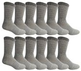 12 Pairs of excell Men's Merino Wool Thermal Socks, Grays, Size 10-13 - Mens Thermal Sock