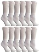 6 Pair Of SOCKSNBULK Ladies White Diabetic Neuropathy Socks, Sock Size 9-11 - Women's Diabetic Socks
