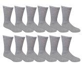 12 Pair Of excell Ladies Gray Diabetic Neuropathy Socks, Sock Size 9-11 - Women's Diabetic Socks