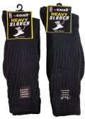 6 Pairs of Excell Men's Super Slouch Socks, Cotton Blend, Black, Sock Size 10-13 - Mens Crew Socks