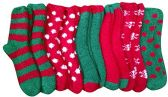 Excell Ladies Christmas Printed Holiday Socks - Womens Fuzzy Socks