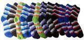12 Pairs of Women's Striped Fuzzy Socks, Sock Size 9-11