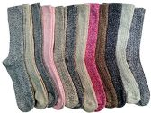 12 Pairs Of excell Womens Extreme Weather Wool Boot Socks Size 9-11 - Womens Thermal Socks
