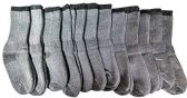 12 Pairs of excell Childrens Mens Womens Merino Wool Socks, Gray, Sock Size 4-6