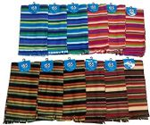 12 Piece Ladies Assorted Striped Warm Winter Fleece Scarfs - Winter Scarves