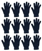 12 Pairs of excell Black Magic Gloves, Mens Womens - Magic Acrylic Gloves