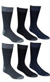 6 Pairs Of excell Mens Premium Winter Wool Socks With Cable Knit Design (1507) - Mens Thermal Sock