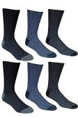 6 Pairs Of excell Mens Premium Winter Wool Socks With Cable Knit Design (1508) - Mens Thermal Sock