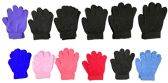 12 Pair Pack Of excell Kids Warm Winter Colorful Magic Stretch Gloves And Mittens (152)
