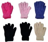 6 Pairs Of excell Womens Soft Warm And Fuzzy Solid Color - Winter Gloves
