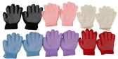 12 Pair Of excell Childrens Assorted Color Winter Gripper Gloves - Conductive Texting Gloves