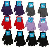 12 Pairs of excell Women's Stretchy Magic Gloves, Assorted Colors, One Size Fits All