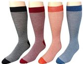 SOCKSNBULK Men's Premium Crew Socks, Vicose Bamboo (Assorted Colorful (12 Pairs)) - Mens Crew Socks