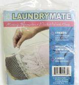 48 Units of Laundrymate Hosiery seperator 4 pocket Zippered Wash bag