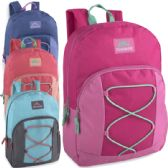 24 Units of Trailmaker 17 Inch Bungee Backpack With Side Pocket - Girls