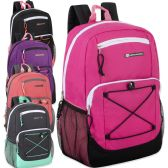 "24 Units of Urban Sport 18 Inch Deluxe Bungee Backpack - 5 Color Girls Assortment - Backpacks 18"" or Larger"