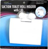 48 Units of Suction Toilet Roll Holder with lid - Bathroom Accessories