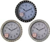 40 Units of 9 Inch Decorative Wall Clocks Non-ticking, quiet and smooth sweeping movement of clock hands