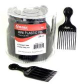 36 Units of Mini Plastic Hair Pick in Counter Display - Hair Accessories
