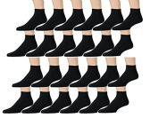 12 Pair Pack Of excell Kids Cotton Low Cut Cotton Ankle Socks (4-6, Black) - Girls Ankle Sock
