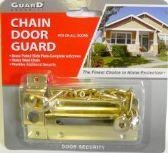 24 Units of Brass Plated Chain Door Guard - DOORS