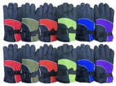 12 Units of 12 Pairs Of Kids SOCKSNBULK Thermal Sport Winter Warm Ski Gloves - Ski Gloves