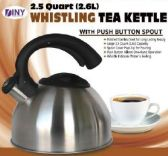 12 Units of Whistling Tea Kettle 2.5quart 2.6L polished Stainless Steel