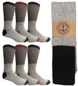 180 Units of Yacht & Smith Men's Winter Thermal Tube Socks Size 10-13 - Sock Pallet Deals