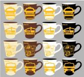 48 Units of 11 ounce Stoneware Mug New York City Taxi