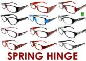 300 Units of 3.50 Spring Hinge Reading Glasses