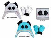 Wholesale Sock Deals 24 Pack Of WSD Toddler Fleece Lined Earflap Hat & Magic Glove Sets - Animal Designs - Winter Sets Scarves / Hats / Gloves