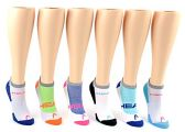 30 Pairs Value Pack of WSD Women's No-Show Socks (Size 9-11), Assorted Colors - Womens Ankle Sock