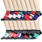 240 Units of Womens Printed Ankle Socks - Womens Ankle Sock