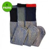 24 Units of 4 Pair Thermal Socks Work Boot Warm All Season Size 10-13 - Mens Thermal Sock
