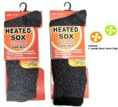 144 Units of Mens Heated Socks Includes Laundry Sock Locks - Mens Ankle Sock