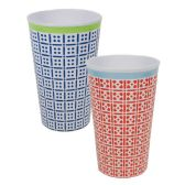 144 Units of DIAMETER A8.2X12CM HOT CUP 14OZ CHECKS 2 ASSORTED