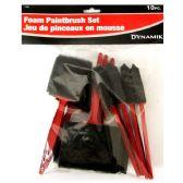 24 Units of 10 PIECE FOAM PAINTBRUSH SET - Paint and Supplies