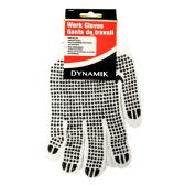 72 Units of RUBBER GRIP COTTON WORK GLOVES