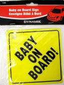 144 Units of BABY ON BOARD SIGN