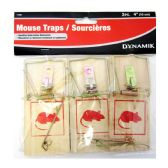 72 Units of 3 PIECE SMALL MOUSE TRAP - Pest Control