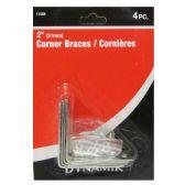 "72 Units of 4 Piece 2"" (51MM) CORNER BRACE - Hardware Products"