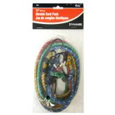 "72 Units of 4 PIECE. 24"" STRETCH CORD PACK - Bungee Cords"