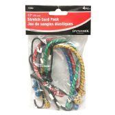 "72 Units of 4 PIECE. 12"" STRETCH CORD PACK"