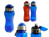 48 Units of Water Bottle 650ml 2 Assorted Clear Colors - Sport Water Bottles