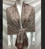 36 Units of Fashion Paisley Design In Light Brown - Winter Pashminas and Ponchos