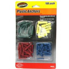 72 Units of Plastic anchors - Hardware Products