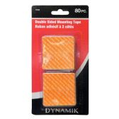 72 Units of 80 PIECE DOUBLE.SIDED TAPE - Tape