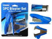 48 Units of 3pc Stapler Set - Staples & Staplers