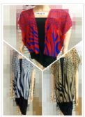 24 Units of Women Fashion Top Mixed Color Striped - Womens Fashion Tops